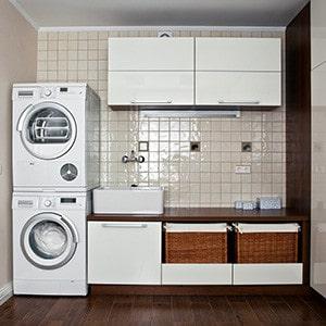 Interior of luxury laundry room